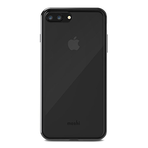Moshi Vitros pour iPhone 8/7 Plus Coque Transparente Anti-Chocs Compatible Charge Sans Fil - Noir De Jais