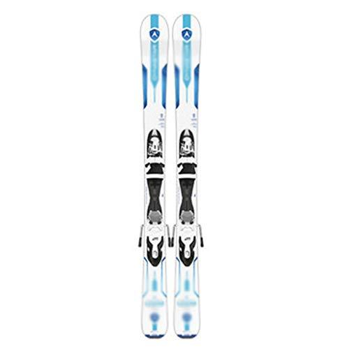 Rodel Ski Long Ski Doppelpension for Erwachsene Snowboard Doppelplatte mit Fester Skiausrüstung (Color : Weiß, Size : 104cm/40.9 inches)