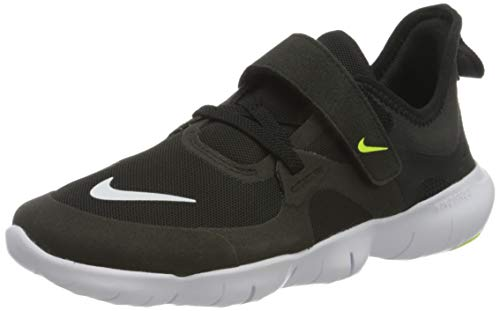 Nike Unisex-Child Free RN 5.0 (PSV) Running Shoe, Black/White-Anthracite-Volt, 32 EU