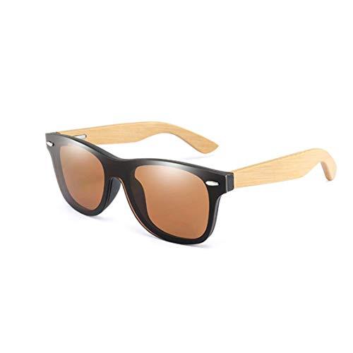 ZYIZEE Gafas de Sol Gafas de Sol de bambú para Hombre Gafas de Conductor de Madera para Hombre/Mujer Gafas de Sol Masculino