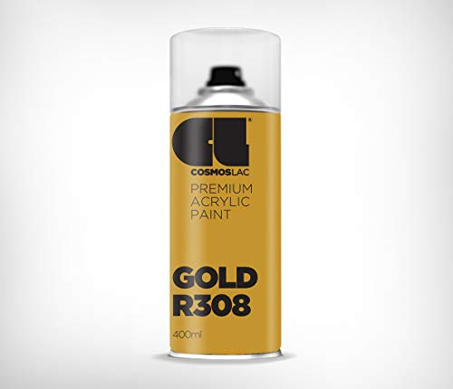 Cosmos LAC Acryllack Sprühdose, glänzend - Graffiti Sprühlack Farbspray DIY Lackspray Sprühfarbe Sprühdose (Gold)