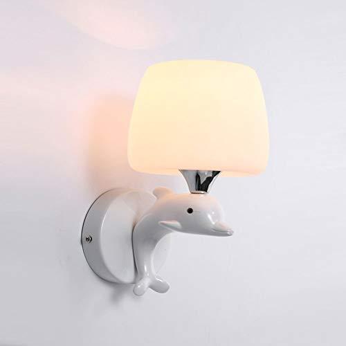 GBYN Moderne, minimalistische Kinderwandleuchte, Einzelkopf 280 mm * 150 mm, für Schlafzimmer, Esszimmer, Balkon, Kinderwandleuchte-Single