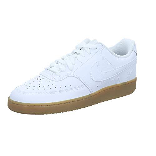 Nike Court Vision Lo, Scarpe da Corsa Unisex, White/Bianco-Photon Dust-Gum lt Brown(Marrone), 47 EU