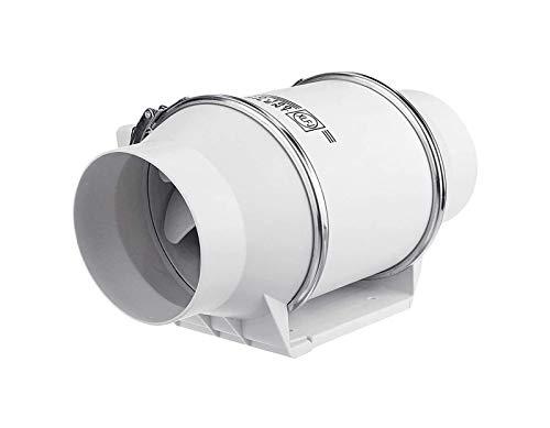 Línea de conductos de aire del ventilador extractor de 5 pulgadas / 125 mm, de alta eficiencia de baño Cocina de conductos de aire del ventilador extractor de ventilación ventilador del sistema, IPX4