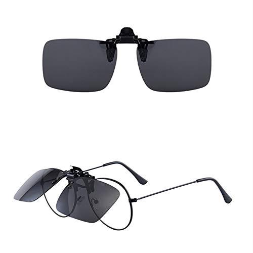 [GUZZU] 前掛けクリップ式サングラス 跳ね上げ式 ドライブ/野球/自転車/夜釣り/ランニング/ゴルフ/運転 男女兼用 クリップオン サングラス クリップオン サングラス 偏光 メガネ 偏光 偏光サングラスメガネにつける クリッ定タイプサングラスUV4
