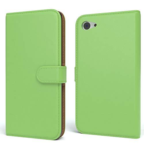 EAZY CASE Tasche für Sony Xperia Z5 Compact Schutzhülle mit Standfunktion Klapphülle im Bookstyle, Handytasche Handyhülle Flip Cover mit Magnetverschluss & Kartenfach, Kunstleder, Grün