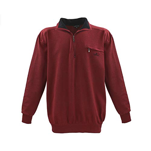 Lavecchia Herren Sweatshirt LV-2100-Bordo-Rot-Meliert (3XL)