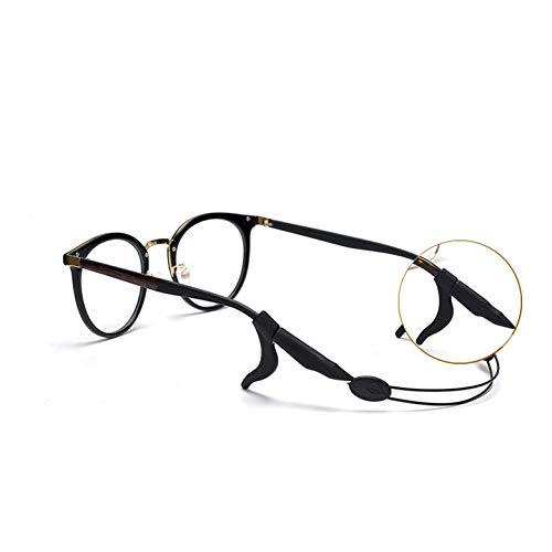 絶妙で小さなQ 眼鏡 スポーツ ストラップ メガネ 引き綱 スリップ スーツ 調節可能 男女兼用 ブラック