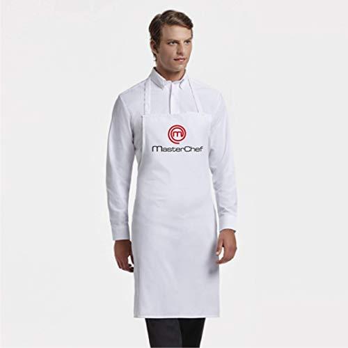 Clapper Delantal de Cocina Masterchef. Personalizado con TU Nombre. Poliester-Algodon