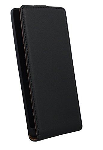 Rocina Eco Flip Hülle Tasche in schwarz für Microsoft Lumia 940 / 950