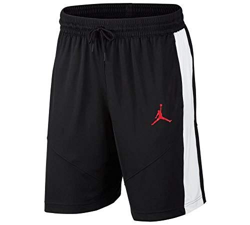 Nike M J JUMPMAN BBALL SHORT, Pantaloncini Sportivi Uomo, black/Black/White/(gym red), L