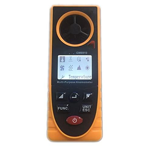 Medidores de velocidad del viento 8IN1 DIGITAL LCD Anemómetro Presión Barométrica Humedad Altitud Iluminación Temperatura Viento Frío de Rocío Métrico Velocidad de Viento Para medir la velocidad del v