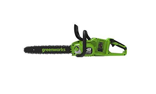 Greenworks Motosierra de batería GD24X2CS36 Li-Ion 2x24V 20m/s de velocidad de cadena 36cm de longitud de barra 200ml de capacidad de depósito de aceite sin batería ni cargador
