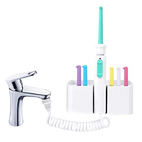 Agua Flosser Agua Del Grifo Flosser Dental Oral Irrigador De Chorro De Agua Seda Dental Irrigador De Agua De Riego Dientes Hilo Dental De Limpieza Para La Familia Limpiar Cabezales De Inyección 6
