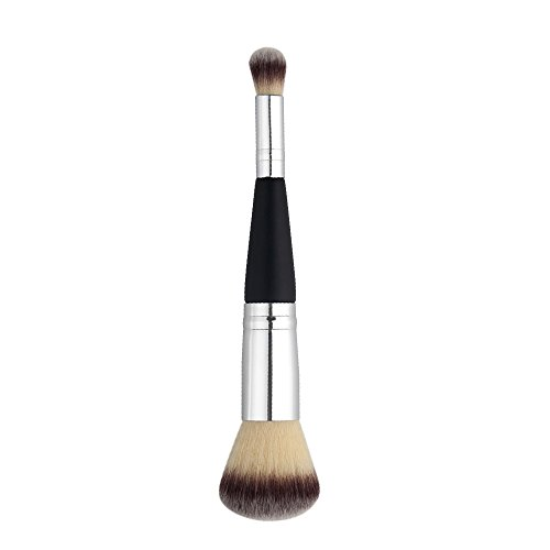 SDENSHI Pinceau de Maquillage En Bois Essential Dual Heads Face Flat Foundation Powder Brushes