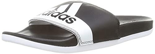 adidas Unisex Adilette Comfort Flipflop, Mehrfarbig (Negbás/Ftwbla), 43 1/3 EU