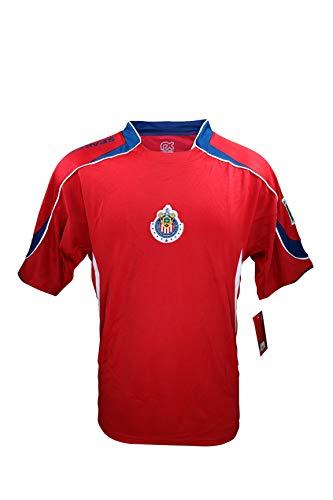 Chivas De Guadalajara Offizielles Fußballtrikot für Erwachsene, Poly Jersey 006, schwarz, Adult