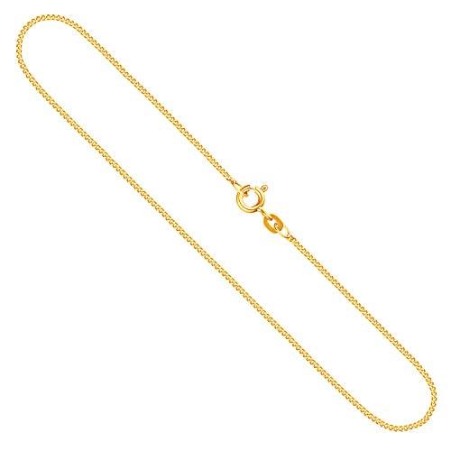 Goldkette, Panzerkette flach Gelbgold 585/14 K, Länge 45 cm, Breite 1.2 mm, Gewicht ca. 2.3 g, NEU
