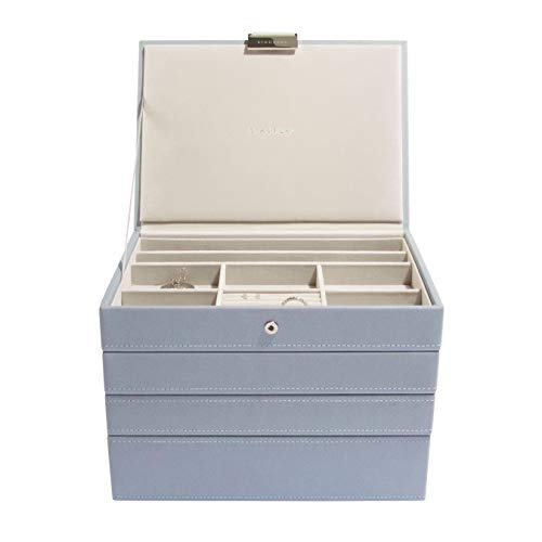 Stackers Dusky Blue Classic Medium Jewellery Box, Set of 4