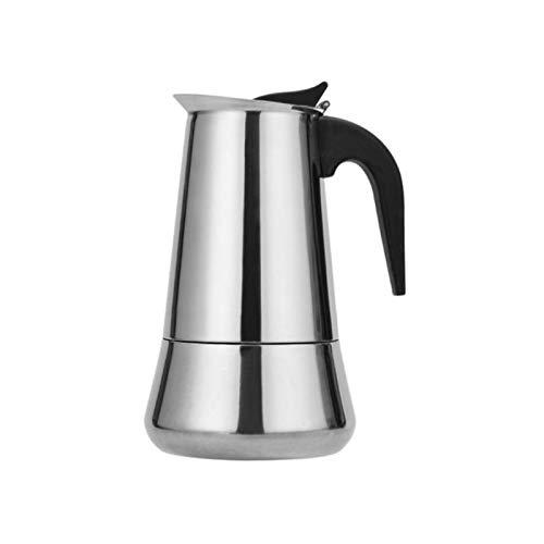Acero inoxidable Cafetera Espresso Latte Mocha percolador Estufa Cafetera percolador Pot bebida herramienta Cafetera 2/4/6/9/12 Copa jarra cafetera (Color : 600ML)