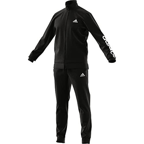 adidas M Lin TR TT TS, Tuta Uomo, Top: Nero/Bianco Fondo: Nero/Bianco, 7