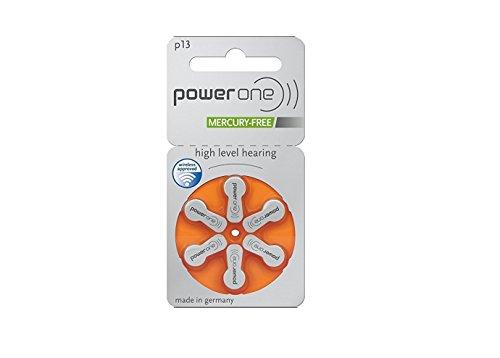Batterien Hörgeräte Power One P 13(0% Quecksilber)