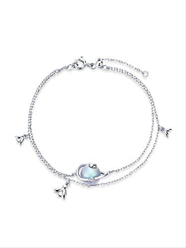Galaxy bracelet ins small crowd simple cold wind jewelry honey girl vintage jewelry honeyAretes Pendientes aro Aretes Muje Regalo para Madre, r