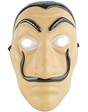 قناع وجه بلاستيكي بشكل سالفادور دالي مستوحى من مسلسل لا كاسا دي بابل ذا هاوس اوف بيبر