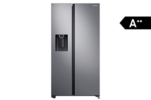 Samsung RS5000 RS64R5302M9/EG Side-by-Side Kühlschrank/A++ / 617 Liter/Space Max/All Around Cooling/Edelstahl Look, Metallisch