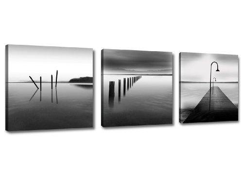 150 x 50 cm foto op canvas steiger water 4209-SCT Duits merk en magazijn - De foto's/de muurschildering/de kunstdruk is al ingelijst