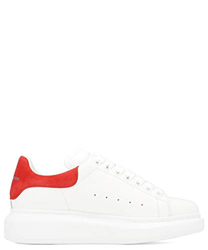 Alexander McQueen Luxury Fashion Damen 553770WHGP79676 Weiss Leder Sneakers | Jahreszeit Permanent