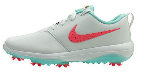 Nike Roshe G Tour, Zapatillas de Golf Hombre, Multicolor (White/Hot Punch-Aurora Green 103), 41 EU