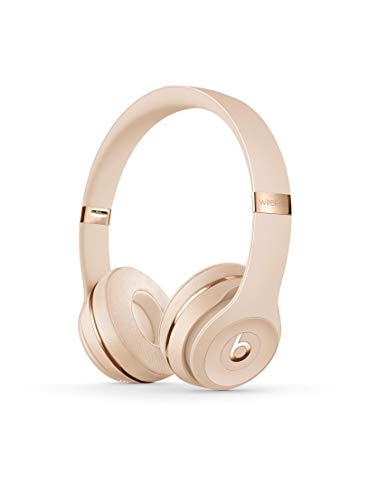Beats Solo3 Wireless On-Ear Headphones - Apple W1 Headphone Chip, Class 1 Bluetooth, 40 Hours Of Listening Time - Satin Gold (Previous Model)