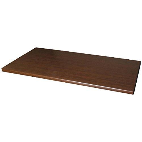 Werzalit Plus Dn644 rectangulaire Dessus de table, 1100 mm, Noyer