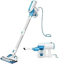 MMOOSOO Corded Vacuum Cleaner, 4 in 1 Stick Vacuum with 17Kpa Powerful Suction, Flexible Motorized Floor Brush, Adjustable Tube for Hard Floors and Carpet Hardwood Floor Pet Hair D601