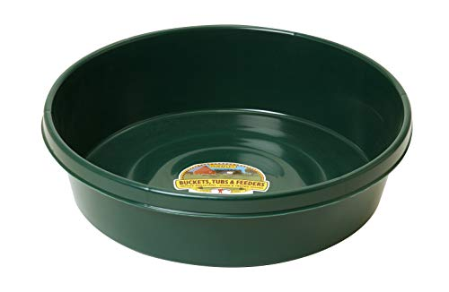 Little Giant Plastic Utility Pan (Green) Durable & Versatile Short Livestock Feeding Bucket (3 Gallon) (Item No. P3GREEN)