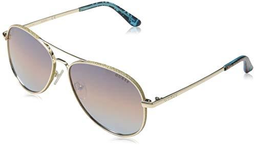 Guess GU7555 33F 59 Monturas de gafas, Dorado (Oro), Unisex Adulto