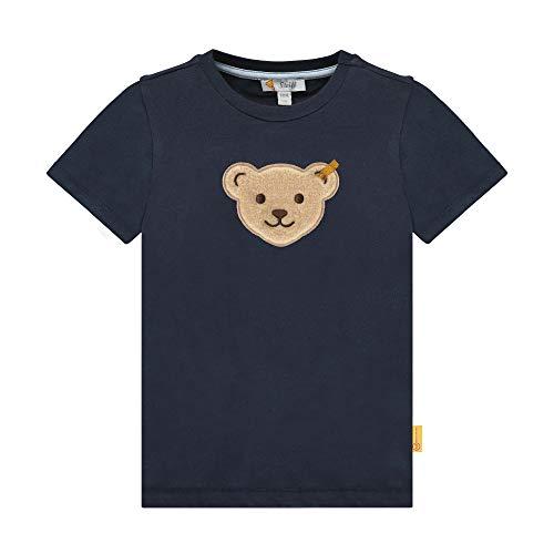 Steiff Jungen T-Shirt, Blau (Black Iris 3032), (Herstellergröße: 104)