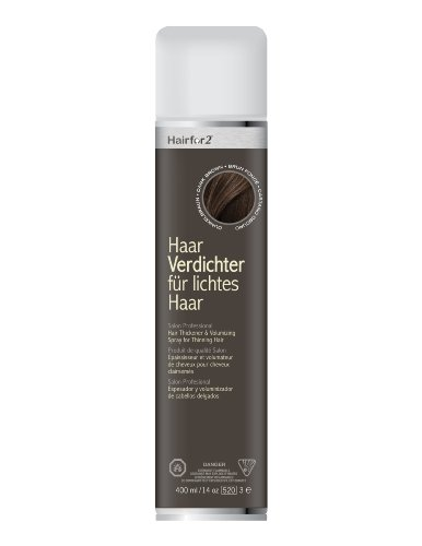 Hairfor2 Haarverdichtungsspray gegen lichtes Haar (400ml, Dunkelbraun)