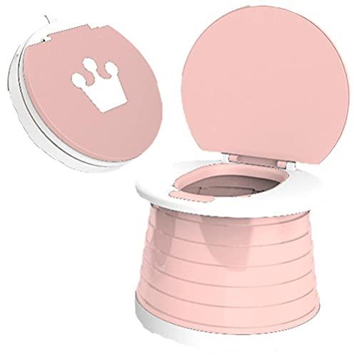 Baby opvouwbare toilet, opvouwbaar babytoilet, herbruikbaar draagbaar kindertoilet, draagbaar babypotje toilet voor kinderen, trainingsstoel draagbaar toilet voor reizen, kamperen, buiten, gemakkelijk te dragen, roze