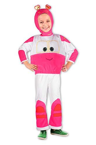 Ciao Robot Trains kostuum Sally 4-5 Jaren Roze, Wit