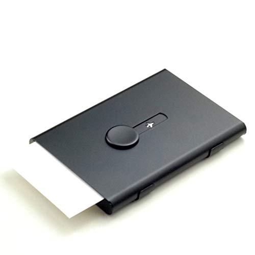 Business card holder Tipo Creativo del Empuje de la Mano del Metal del Negocio portatarjetas de Visita Caja portátil de la Tarjeta de Visita de la señora