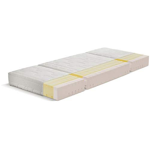 OrthoMatra Senioren- und Pflegebett Matratze, 3-teilig, Würfelschnitt, bis Härtegrad H5 Größe 90 x 190 cm, Farbe H3
