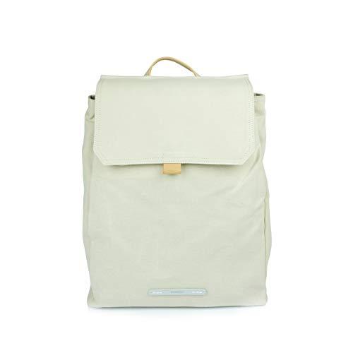 Rucksack Frauen - Business Daypack für Damen Canvas Wasserabweisend - Alltags Tasche 13 Zoll Laptop A4 - RAWROW Kleiner Backpack (Hellgrau) (Elfenbein)