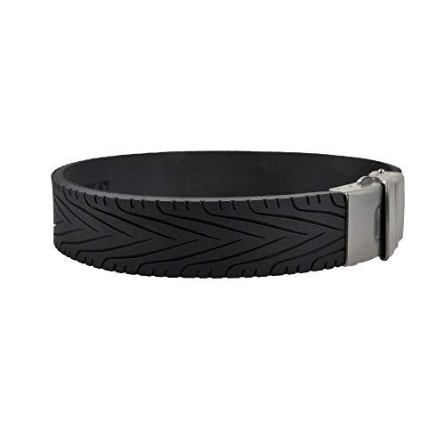 BRAYCE® Armband Rennreifen I Racing Tyre Armbänder Größen selbst anpassen I Armband verstellbar mit Rennsport Fans im Reifen Profil/Autoreifen