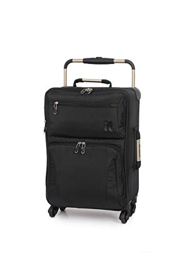 IT World's Lightest 55cm Cabin/Carry On Size Four Wheel Suitcase Black