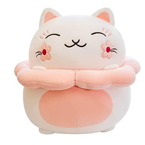 LTLGHY Gato Animal De Peluche, Gato Brinquedos De Pelúcia Boneca De Felpa Almofada para Abraçar O Sofá Da Casa Almofada Traseira para Crianças Presente,35cm