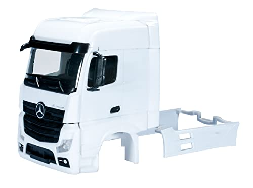 Herpa 083706-Mercedes-Benz Actros Cabine Bigspace avec déflecteurs de Vent, y Compris Miroir, Grille en Une Seule, 2 pièces, 083706