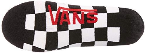 Vans_Apparel Classic Super No Show (6.5-9, 3pk) Calze, Rosso (Red-White Check Rlm), Taglia unica Uomo