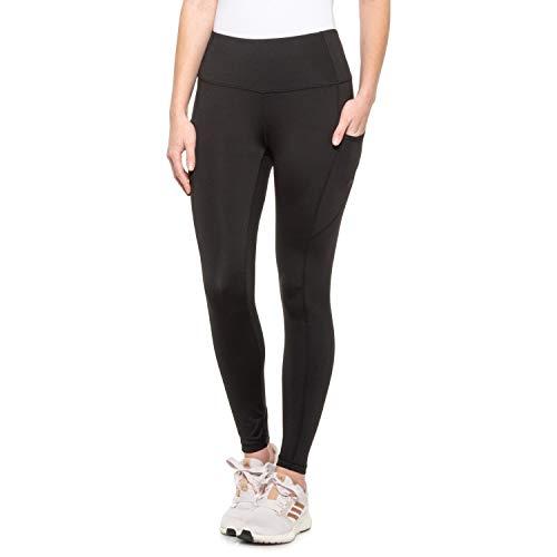 Reebok Women's 7/8 Workout Leggings w/High-Rise Waist - Performance Compression Athletic Tights - Black Prevail, Medium